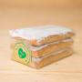 Pfefferkuchenrechtecke mit Mandelsplittern (Zuckerglasur)